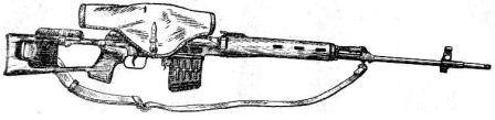 найперская винтовка с чехлом