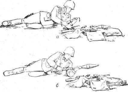 Подготовка гранаты к стрельбе рпг