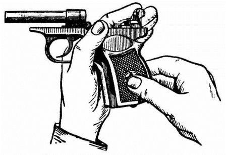 Отделение рукоятки от основания рукоятки