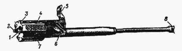 Затворная рама с газовым поршнем