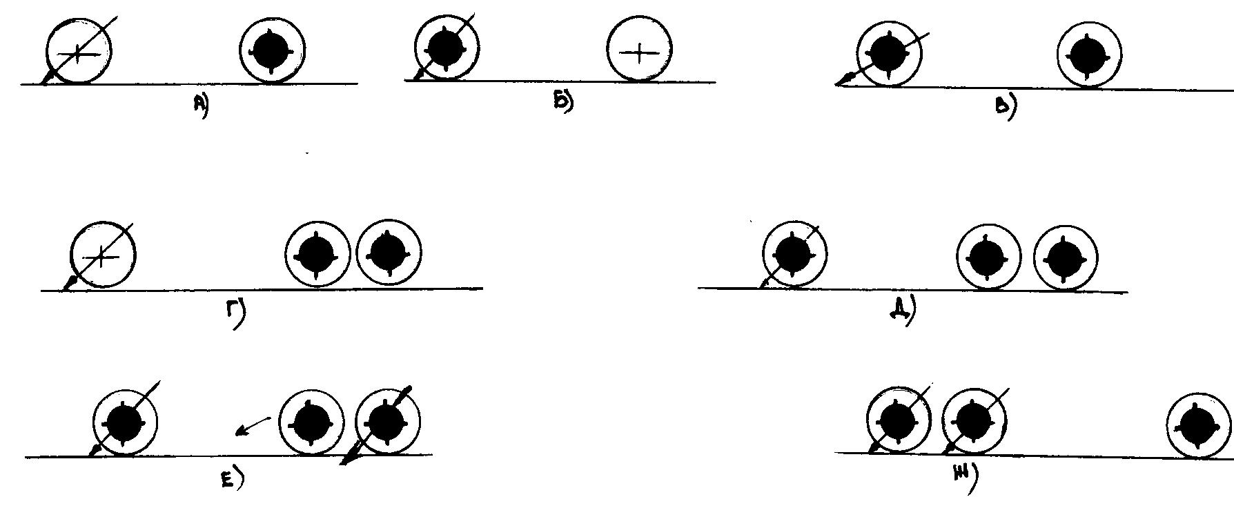 Схема расположения осей двухосных и трехосных автомобилей